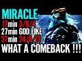 FEED and COMEBACK --- MIRACLE STYLE 7.07 META ZEUS DOTA 2