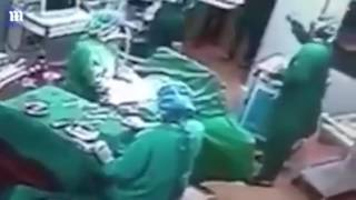 Nurses Fighting During Operation in ICU mp4