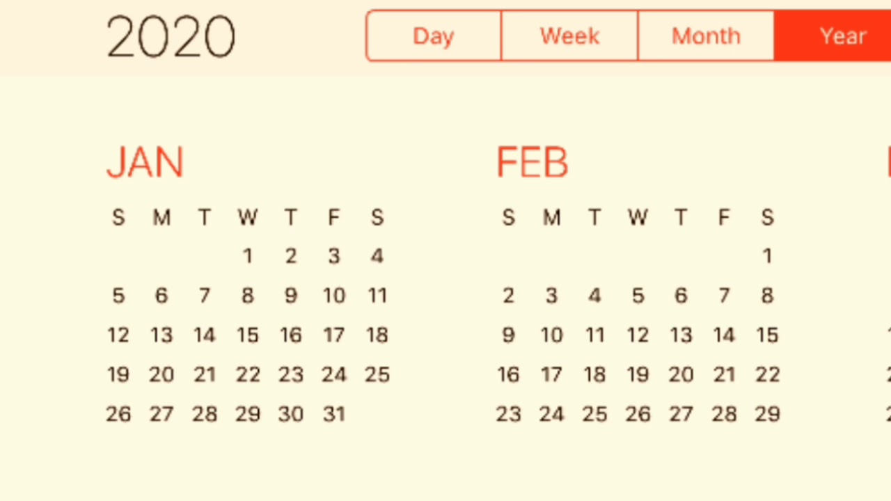 Calendario 2020 2020.Calendar 2020