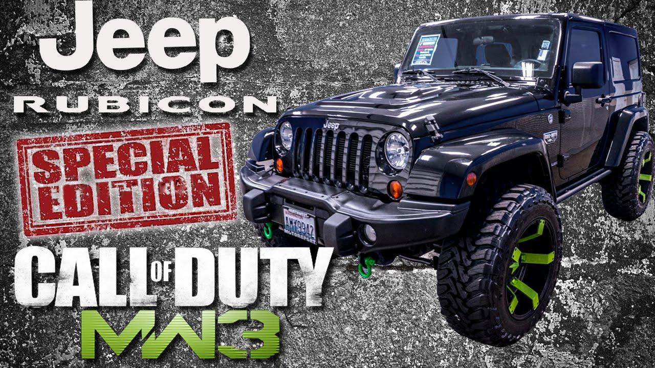 2012 Call Of Duty Modern Warfare 3 Jeep Wrangler Rubicon Northwest Motorsport