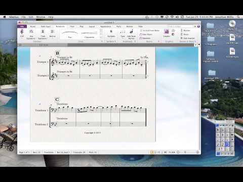 Sibelius Notation Tutorial 6: Articulations and the Line Tool