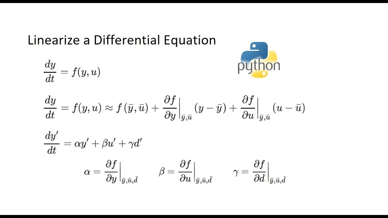 Linearization of Differential Equations | Dynamics and Control