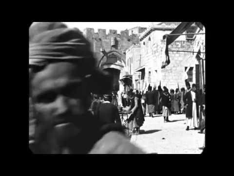 April 1897 - Jaffa Gate in Jerusalem (speed corrected w/ added sound)