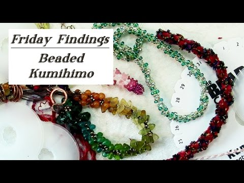 Friday Findings-Beaded Kumihimo