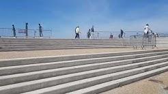 Affluence sur le front de mer de Fecamp en ce premier week-end depuis le déconfinement.