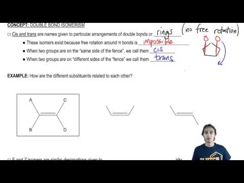 How to name different types of double bonds or rings