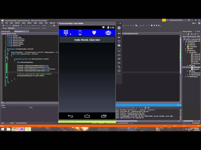 Xamarin Android Tutorial   26   Creating a Custom Action Bar