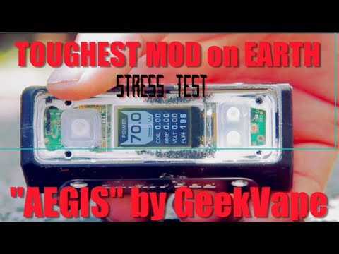 WE RAN OVER THIS MOD WITH A CAR - AEGIS 100WTC MOD by Geekvape (STRESS TEST and EXTREME TESTING)