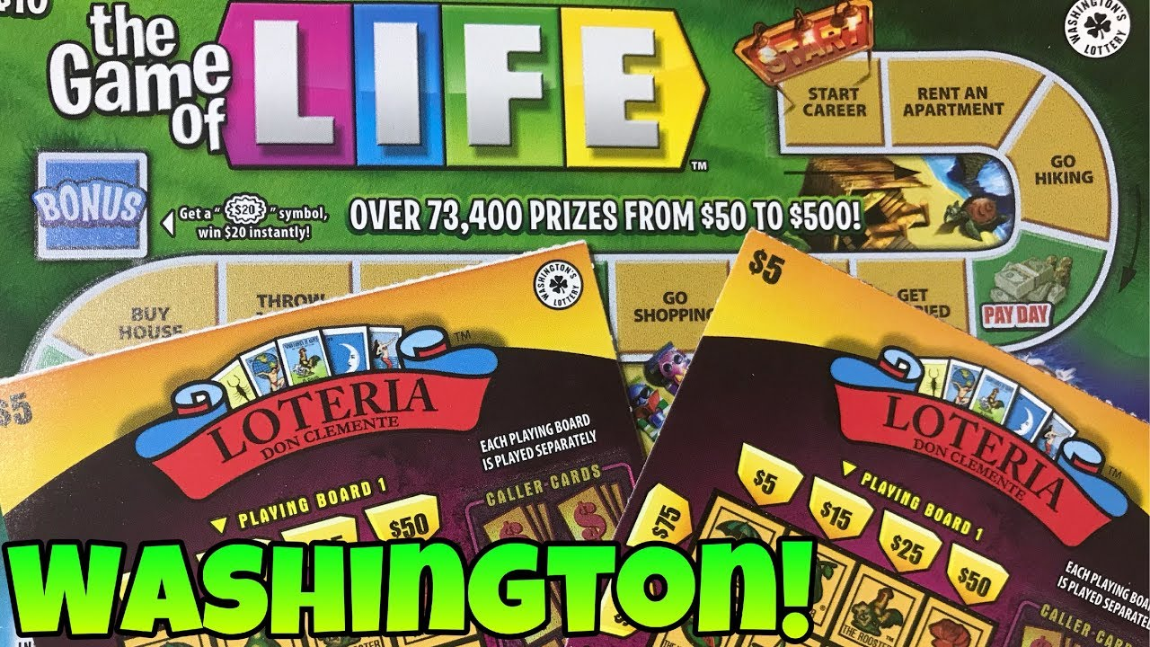 Trying to win the Game of Life! $20 Mix of Washington Lottery Scratch Off's