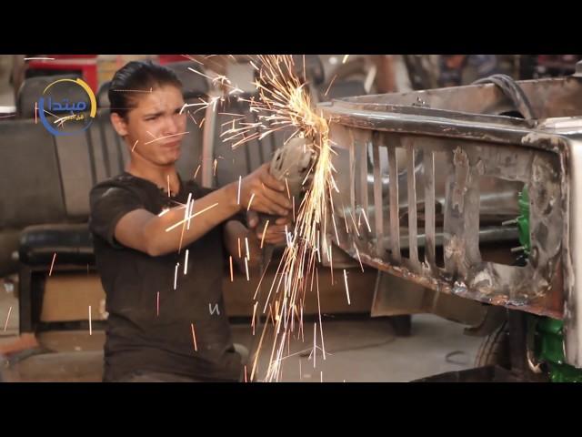 شاب مصرى يصنع سيارة بديلة للتوكتوك