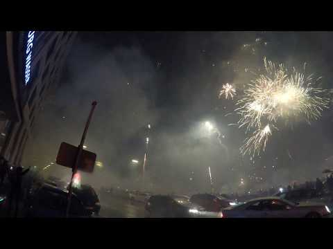 Hamburg New Year's Eve | fireworks ( 4k video )