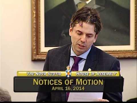 Joachim Stroink, MLA Halifax Chebucto reads Benjamin Moore: Main Street Matters resolution