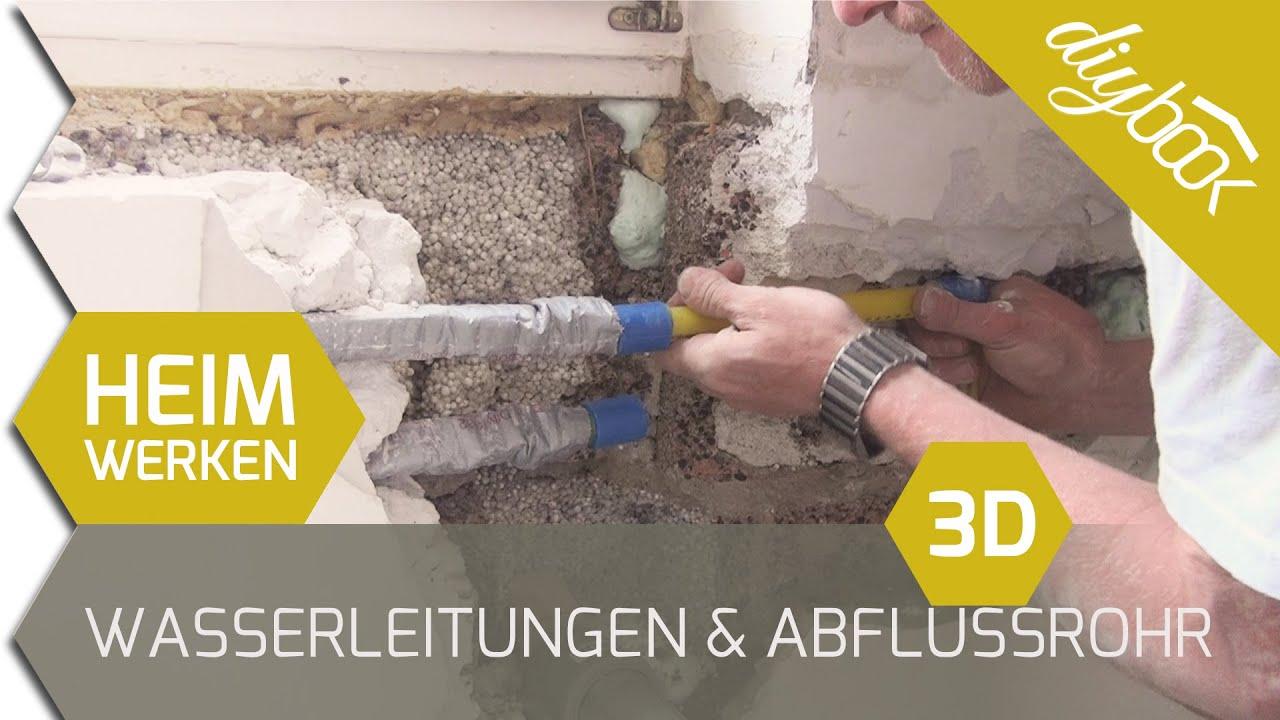 3d Fußboden Komplettsystem Boden Mit Bild Zum Selber Machen ~ Wasserleitungen und abflussrohr verlegen 3d youtube