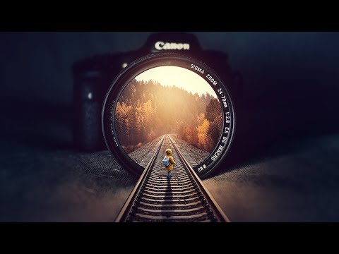 Rails Inside Illution Photo Manipulation Photoshop Tutorial