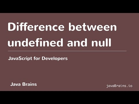 JavaScript for Developers 14 - Difference between undefined and null