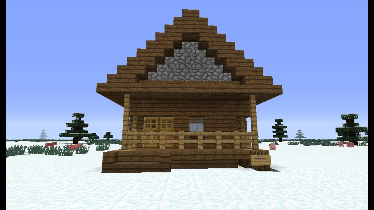 Minecraft simple log cabin the image for Simple houses to build