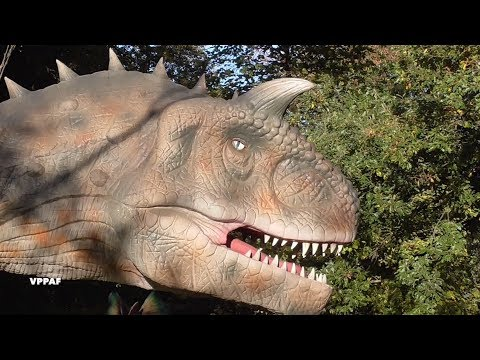 Dinosaurs in the park
