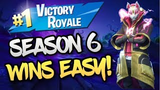 How To Get Your FIRST Fortnite Win EASY! First Season 6 Win! (Fortnite Battle Royale)