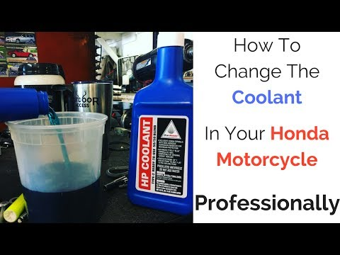 How To Change Coolant : Honda VT1100