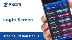 Login Screen | FXCM Trading Station Mobile