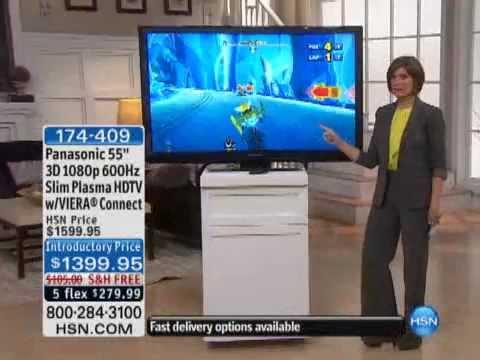 "Panasonic 55"" 3D 1080p 600Hz Slim Plasma HDTV VIERA Connect"