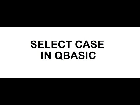 SELECT CASE IN QBASIC