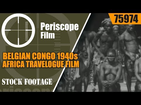 BELGIAN CONGO 1940s AFRICA TRAVELOGUE FILM  LIP PLATE PEOPLE