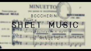 (Sheet music) L. Boccherini – Minuetto (String Quintet), Op11