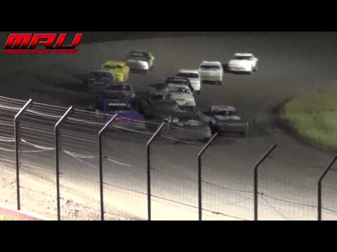 Stock Car Feature at the Iron Cup at Park Jefferson Speedway in Jefferson, SD on September 14th