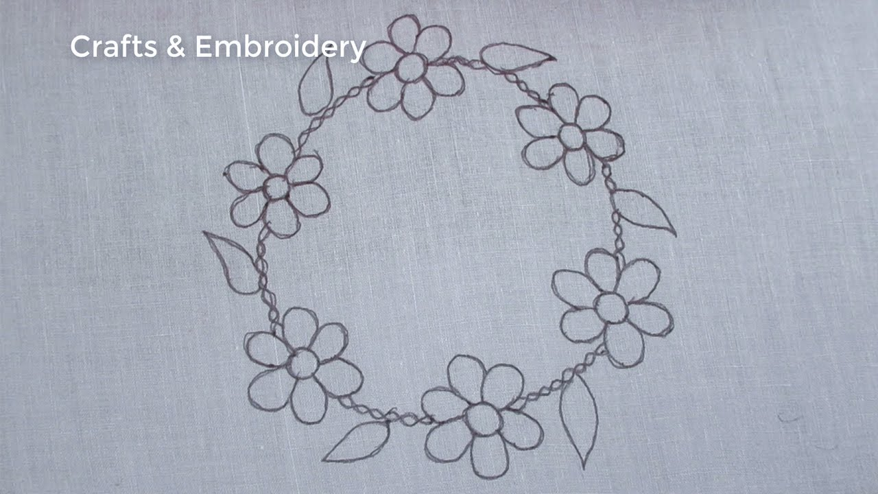 Hand Embroidery Latest Circle Embroidery Tutorial for Beginner, Easy Round Embroidery Design