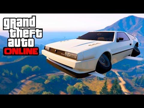 GTA ONLINE DLC FLYING CAR TROLLING | GTA 5 Online Doomsday Heist DLC (Deluxo Trolling)