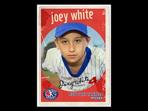 Photoshop Tutorial How To Make A VINTAGE BASEBALL SPORTS TRADING - Baseball card template photoshop