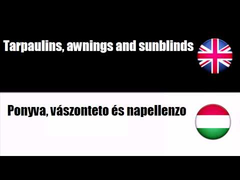ENGLISH HUNGARIAN   Soft furnishings