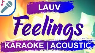 Lauv - Feelings - Karaoke Instrumental (Acoustic)