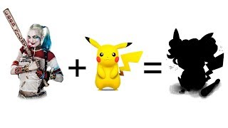 Harley Quinn + Pikachu = ? - Pokemon And Super Hero Fusion.