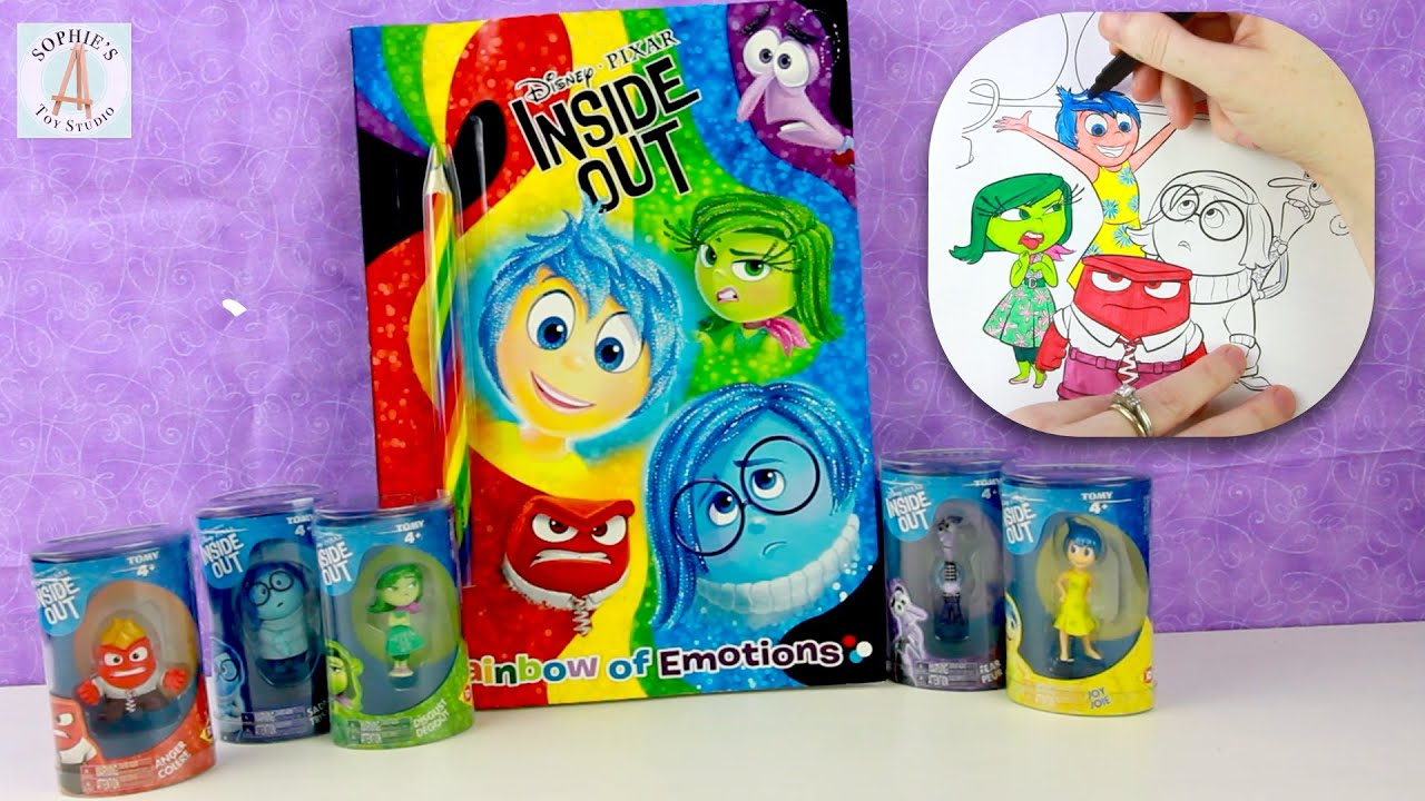 Inside Out Cute Emotions Toys Coloring Book