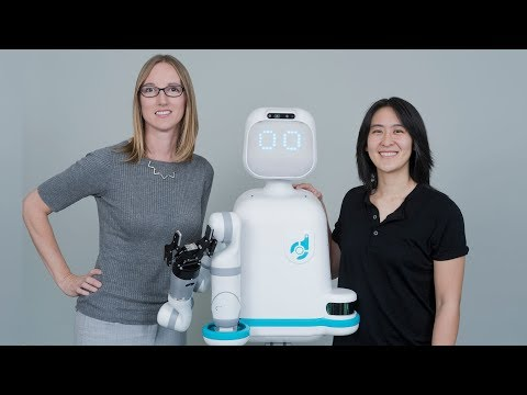 Moxi Ai Nurse Robot Helping Clinical Staff As Hospital Robot Assistant.
