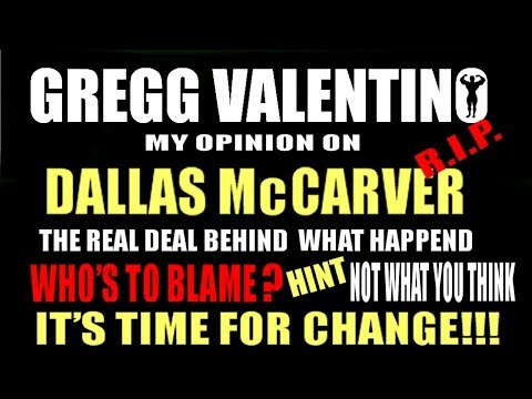DALLAS McCARVER - Who is to blame? My Opinion! Not What You Think!