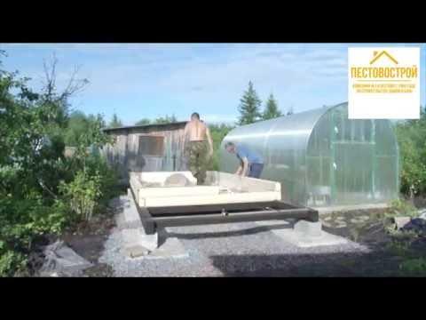 Строительство бани на участке заказчика