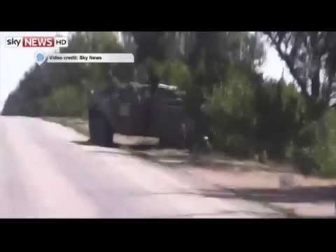 Russian Tanks in Ukraine: Sky News films Russian vehicles inside Ukrainian territory