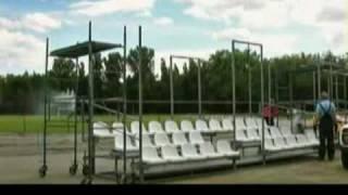 видео аренда мобильных зрительских трибун