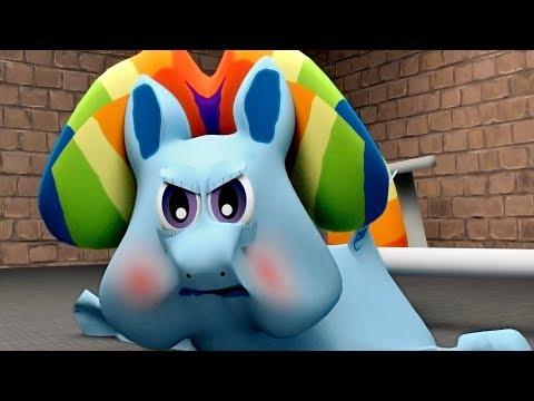Радужный Пудинг в качалке (Мои цветные пони) (3)