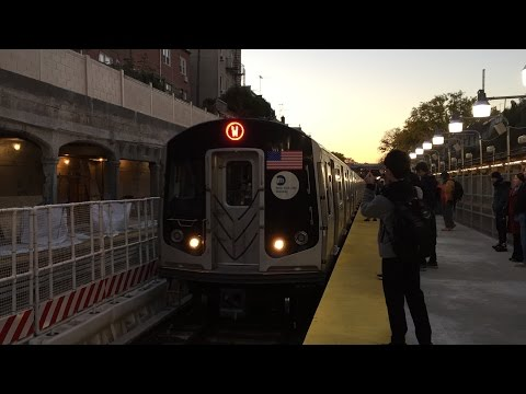 NYC Subway HD 60fps: Riding First Alstom R160A W Train (Bay Parkway to Astoria) Full Line (11/7/16)