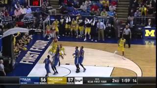 Tulsa vs. Michigan: Moritz Wagner dunk