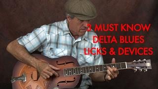 3 Must Know Delta Blues Licks (Blow Minds)