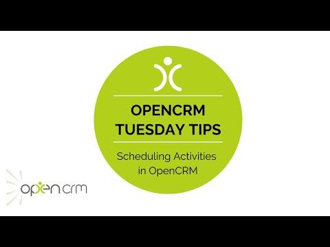#TuesdayTip - Scheduling Activities in OpenCRM
