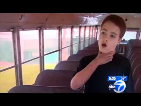 7TH GRADER drives school bus AFTER Driver has heartattack