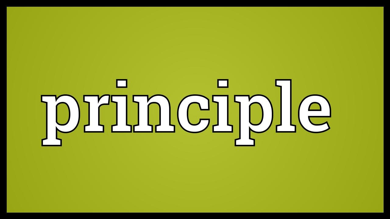 Principle Meaning YouTube