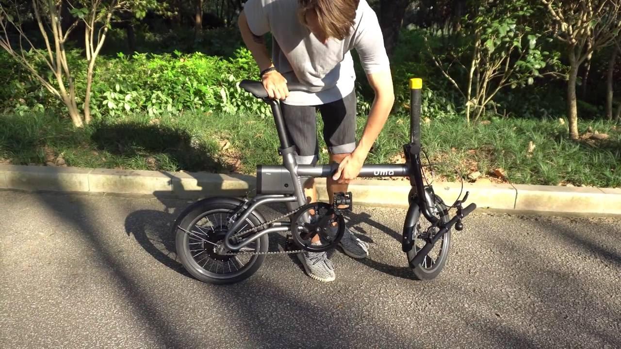 Yunbike UMA mini - электровелосипед, распаковка и обзор