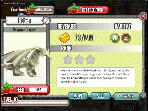 Dragon City Origami Dragon Lv 1 To Lv 10 Youtube